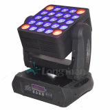 RGBW 25*15W 디스코 빛 LED 매트릭스 곁눈 가리개 이동하는 헤드