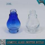 20ml cancelam o frasco cosmético de vidro do conta-gotas do petróleo essencial