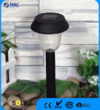黒いプラスチック太陽庭の棒ライト