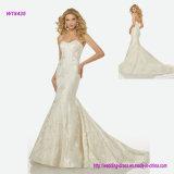 Vestido de casamento Strapless da sereia do estilo clássico por atacado da fábrica