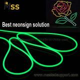 La flessione al neon DC12V 120LEDs del LED canta l'indicatore luminoso al neon del materiale 2835 laterali del silicone per il marchio del segno