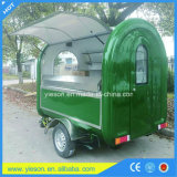 De Aanhangwagen van de Keuken van het Voedsel van Ce gebruikte de Mobiele Vrachtwagens van het Voedsel voor Verkoop