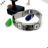 남녀 공통을%s 위장 패턴 스테인리스 유행 시계 소맷동 팔찌
