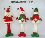 """16 """" H che si levano in piedi la decorazione Gift-3asst di natale della Santa, del pupazzo di neve e dell'elfo"""