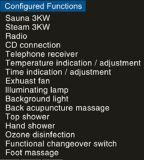 sauna combinada vapor de 1700mm com chuveiro (AT-D8860)