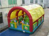 Коммерчески раздувная спортивная площадка с шатром, гигантское Trampolin для взрослых и малышей