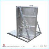 電流を通されるまたは粉の上塗を施してある一時塀または群集工場