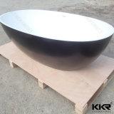 衛生製品の固体表面の浴室の石の黒の浴槽