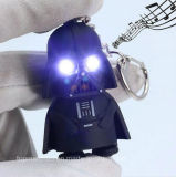 Luz de porta-chaves Black Star Wars Darth Vader Chaveiro LED Pendente