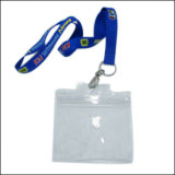 IDのバッジ(NLC011)のための安いプラスチックName/IDカードのバッジの巻き枠ホールダーのカスタム締縄