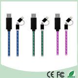 Верхняя часть Амазонкы продавая 2 в 1 кабеле USB EL пропуская светлом (CB-178)