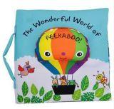 Livro de pano seguro educacional do bebê com dobra