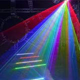 Luz laser RGB del disco de DJ de la pista móvil a todo color de la animación 4W