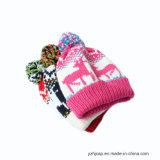 POM POM Hat Beanie Hat Hat Gorro de punto Jacquard
