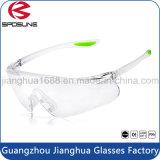PC lunettes réglable Ce FR166 élastique en caoutchouc des lunettes de sécurité lentille claire Temple Conseils