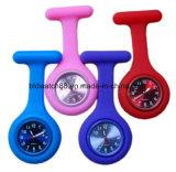 Reloj impermeable de Fob de la enfermera del silicón Japón Movt