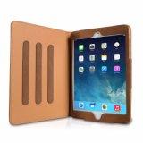 사업 지갑 덮개 연약한 가죽은 Apple iPad2/3/4를 위한 잠 상자를 반대로 튀긴다