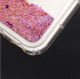 Cubierta a prueba de choques del teléfono del brillo de la cascada líquida móvil superior TPU de la arena movediza