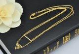 Triangle de la mode Bijoux en acier inoxydable de poignée de commande de la bicouche clavicule Necklace