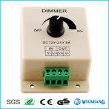 Commutateur manuel de régulateur d'éclairage pour la lumière de bande de DEL, 12V 8A montable avec des terminaux