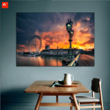 Het Olieverfschilderij van de zonsondergang op Canvas met Frame