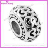 Cordões de europeus com esmalte Preto Aplicar Snake Bracelete Encantos da Corrente