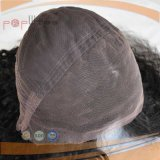 Lockiges handgemachtes Perücke-Art-Menschenhaar-volle Spitze-Perücke 100% (PPG-l-0372)