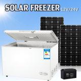 angeschaltene Solargefriermaschine des Kühlraum-300L für Haushalt und Werbung