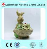Сад орнамент Custom заяц полимера Flower Pot