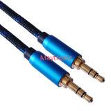 Trenzado Nylon cable estéreo de 3,5 mm