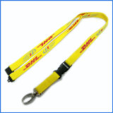 Customized Printing Logo Poliester Breakaway Safety Custom Lanyards para tarjetas de identificación