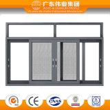 Marco de aluminio profesional Windows de desplazamiento de tres pistas con la red