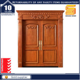 Sécurité résidentielle Entrée avant Double feuille Intérieur Porte en bois massif