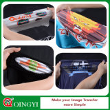 Película vendedora caliente de la etiqueta engomada del traspaso térmico de Qingyi para la ropa