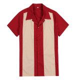 OEM/ODM/Dropの出荷の最新の人のワイシャツのカスタム綿のボーリングのワイシャツ