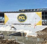 Drapeau de maille de chantier de construction grand pour des drapeaux et des contextes d'événement de festival