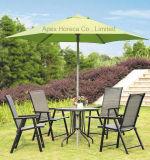 El paraguas al aire libre del paraguas del jardín empuja hacia arriba el parasol