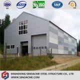 La lumière de deux étages hangar de stockage structuraux en acier avec mezzanine