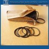 Anello a schiocco nero dell'acciaio 65mn di alta qualità