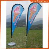 Изготовленный на заказ флаг пляжа летания пера Teardrop напольный рекламировать