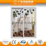 Porte en bois en aluminium d'usine en aluminium de Guangdong Weiye, glissant la porte intérieure