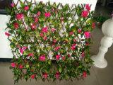 木によって折られる庭の両掛けの装飾の囲うこと