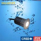 Indicatore luminoso subacqueo esterno del raggruppamento messo LED dell'acciaio inossidabile di 24V IP68 RGB