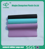 Циновки йоги PU циновки йоги природного каучука циновка тренировки цветастой крытая