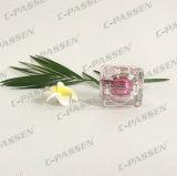Square 10g Rosa boião de creme de acrílico para embalagem de cosméticos (ACJ de FCP-086)