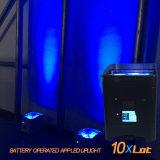 Prix 2017 meilleur marché neuf de lumière sans fil de PARITÉ du mobile DEL $$etAPP de WiFi UV de 4*18W 6in1 Rgbaw avec la batterie 13200mAh avec du long temps d'éclairage