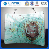 Tube Wave Tension Fabric Graphic Backdrop Wall Displays