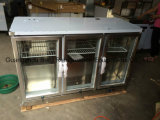 Stainless Stee Under Counter Back Bar Cooler com porta de vidro