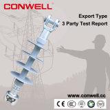isoladores de alta tensão elétricos superiores da porcelana 15kv