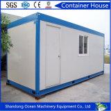 Ampliable prefabricado modular Casa contenedor Casa Oficina de contenedores de acero del color panel sándwich edificio de acero y Estructura